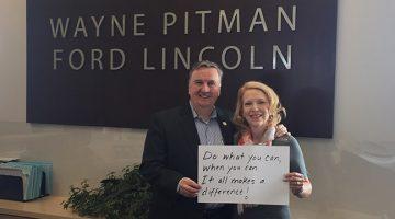 Wayne and Maria Bricknell of Wayne Pitman Ford Lincoln Inc.