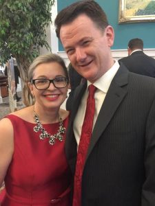 Doug and Cathy MacMillan at Black Tie Bingo 2016.