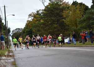 Group of 10 km runners