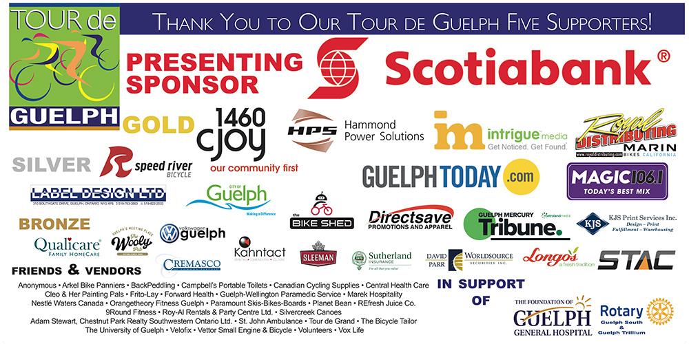 Tour de Guelph Sponsor Banner