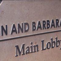 John and Barbara Wood GGH Main Lobby Sign