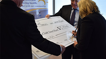 5 million cheque signing