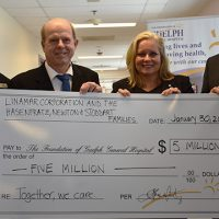 5 million dollar gift to guelph general hospital Linamar Corp and Hasenfratz, Newton and Stoddart families