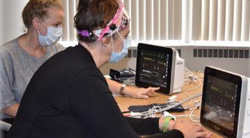 Lori, ED Nurse, Training on Cardiac Monitor