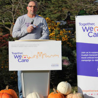 Rob Wesseling at the Together, We Care campaign public launch announcement